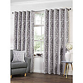 Highgate Silver Eyelets Curtains - 90x72 Inches (229x183cm)