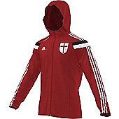 2014-15 AC Milan Adidas Anthem Jacket (Red) - Red