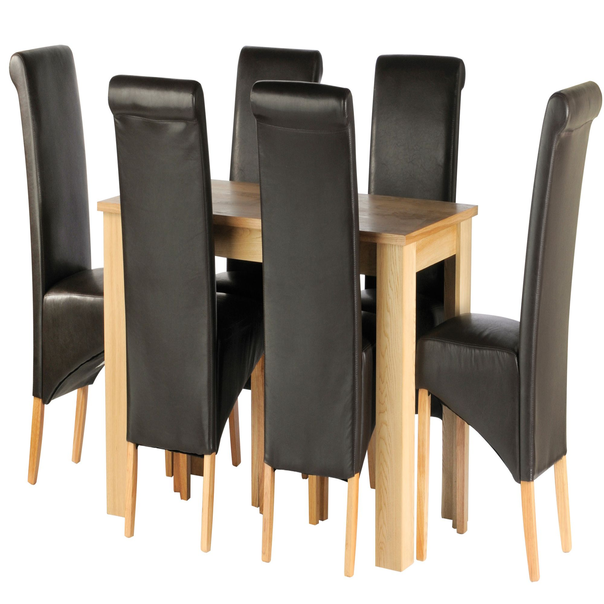 Thorndon Christchurch 7 Piece Dining Set in Natural Light Oak at Tesco Direct