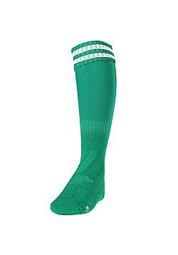 Precision Training 3 Stripe Football Socks - Green & White