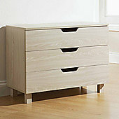 Elements Montana 3 Drawer Chest - Beige Oak