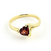 QP Jewellers 0.90ct Garnet Devotion Heart Ring in 14K Gold