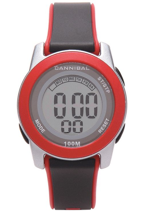 Cannibal Digital Unisex Black Resin Strap Watch CD214-06
