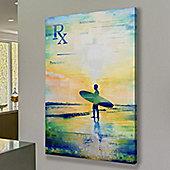 Parvez Taj RX Surf 2 Canvas Wall Art - 152 cm H x 101 cm W x 5 cm D