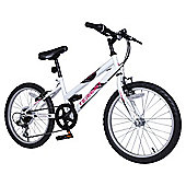 "Terrain Hallam 20"" Kids' Mountain Bike, White"