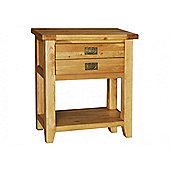 Hawkshead Calgary Small 2 Drawer / 1 Shelf Console Table