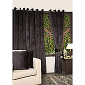 KLiving Eyelet Verbier Lined Curtain 65x72 Black