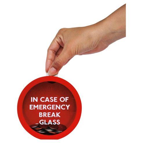 Suck Uk Emergency Glass Money Box