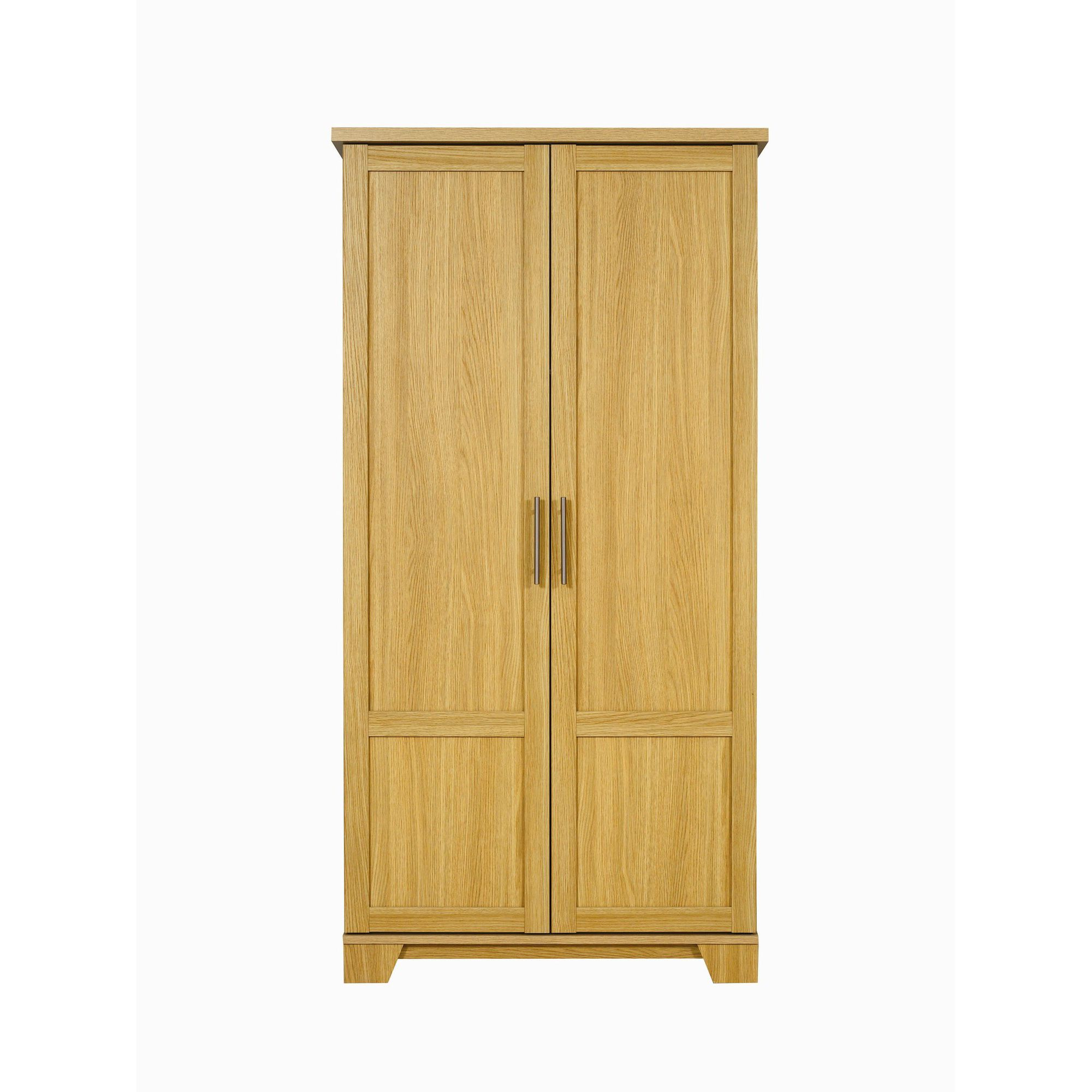 Caxton Melody 2 Door Short Height Wardrobe in Natural Oak at Tesco Direct