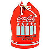 Coke Varsity Retro Duffel Bag
