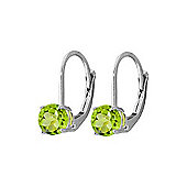QP Jewellers 1.20ct Peridot Leverback Earrings in Sterling Silver