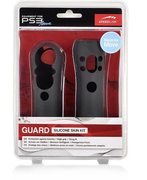 SPEEDLINK GUARD Silicone Skin Kit for PS3 Move, Black SL-4319-SBK