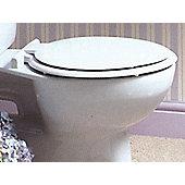 Vemco Tscas-wh Toilet Seat Plastic White