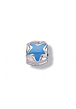 Jo For Girls Blue Star Silver Slide On Bead