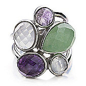 Shimla Ladies Purple/White Agate & Aventurine Ring - SH-212SM