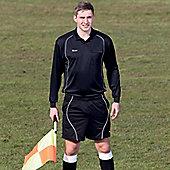 Precision Referees Long Sleeve Shirt Black/White - Black & White