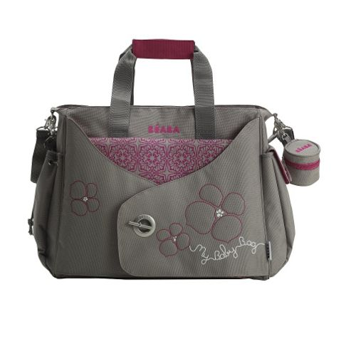 BEABA Sydney Changing Bag, Grey/Pink