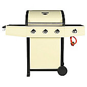 Tesco Cream Premium 3 Burner Gas BBQ + Side Burner