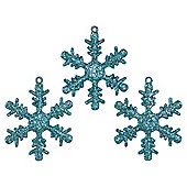 Festive Jade Snowflake Tree Ornament Christmas Decorations, 12 Pack