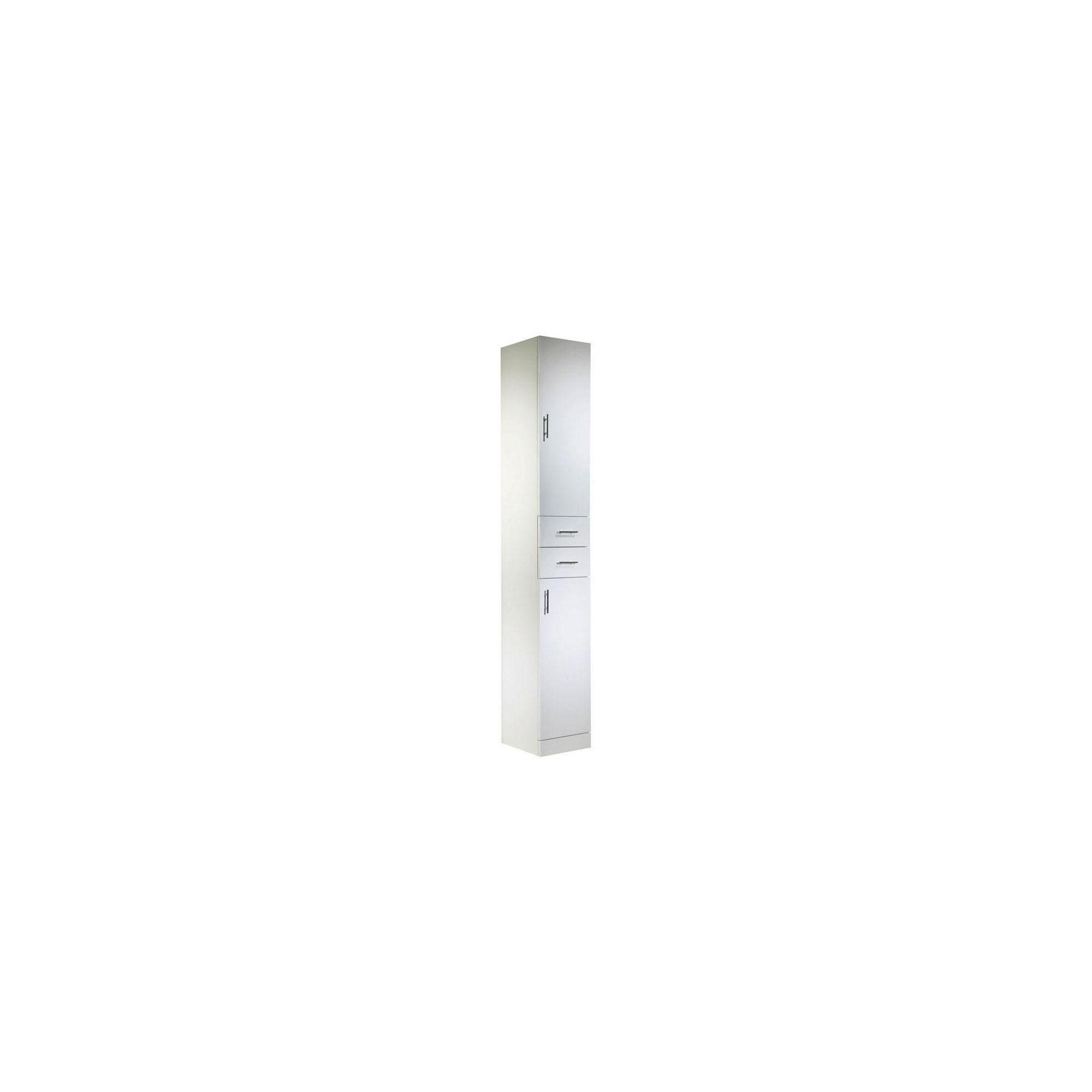 Tavistock Evolution White Tall Floor Standing Storage Unit - 300mm Wide