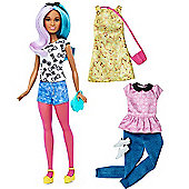 Barbie Fashionistas Blue Violet Doll with Fashion Outfits
