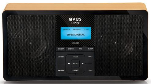 AVES Tango Portable Stereo DABFM Radio with Alarm Snooze Sleep Timer