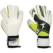 Precision Football Jnr Schmeicho 5 Box Cut Flat Soccer Goalkeeper Gloves - White