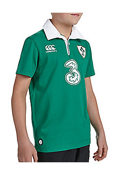 Canterbury Ireland Rugby IRFU Kids Home Classic 6 Nations S/S Jersey 15/16 - Green