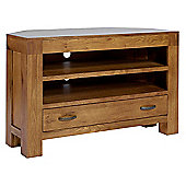 Ametis Santana Rustic Oak Corner TV Stand for up to 50 inch TVs