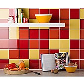 Colour Palette Rouge Gloss Wall Tile 148x148mm Box of 44 (0.96 M² / Box)