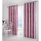 Fusion Whitby Eyelet Lined Curtains Pink 66x72