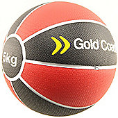 Gold Coast 5kg Heavy Duty Rubber Medicine Ball - For Weights Training Exercise Fitness MMA Boxing