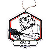 Star Wars Personalised Storm Trooper Christmas Tree Decoration (Single)
