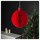 Honeycomb Bauble, Red, 1 Pack