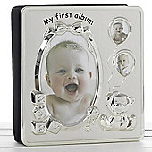 My First Year Baby Photo Frame / Album - Silver