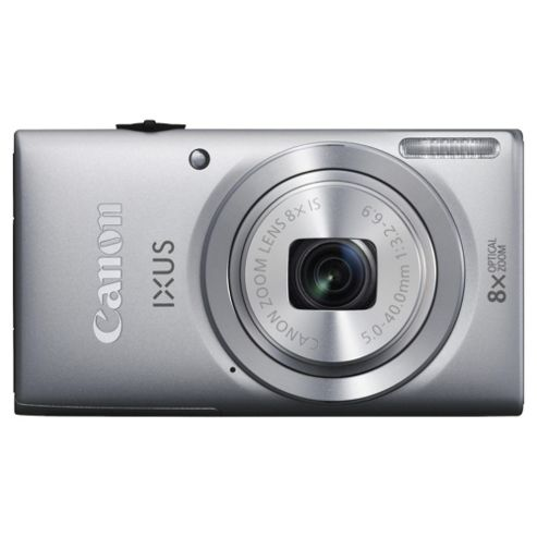 Canon Ixus 132 Digital Camera, Silver, 16MP, 8x Optical Zoom, 2.7 inch LCD Screen