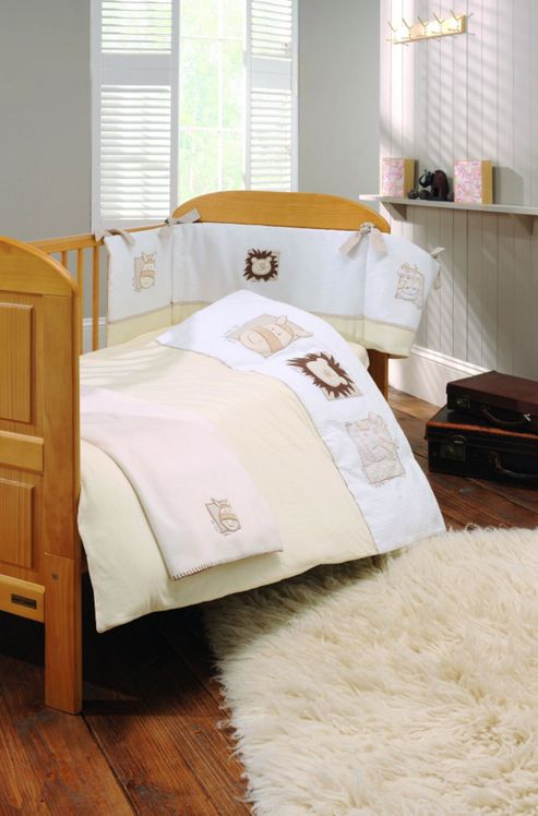 East Coast Little Lion Four Piece Bedding Set, Baby, Beige