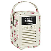 View Quest  Retro Mini DAB/FM Radio, Emma Bridgewater Rose & Bee