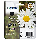 Epson 18 printer ink cartridge - Black (C13T18014010 BK)