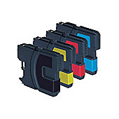 4 Compatible Ink Cartridges for Brother DCP 197C - Cyan / Magenta / Yellow / Black (Capacity: 92ml)