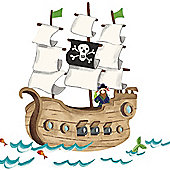 Large Pirate Ship Wall Stickers
