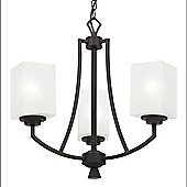 Endon Lighting Three Light Pendant in Painted Metal