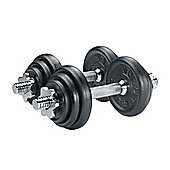 York Fitness 20kg Dumbell Cast Iron Set in Case