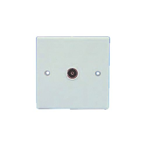 Single Flush Mounting Coaxial Outlet