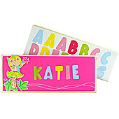 Bigjigs Toys BJ890 Name Plaque (Fairy) (Designs Vary)