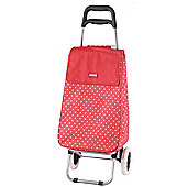 Sabichi 2 Wheel 40L Shopping Trolley, Jeanie Red & White Spot
