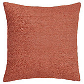 Plain Chenille Cushion, Burnt Orange