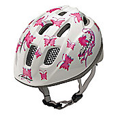 Carrera E0379 Pepe Kids Helmet White Pink Butterflies Small/Medium 53-56cm