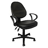 Enduro High Back Leather Operator Chair - Without Arms