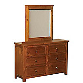 Sweet Dreams Curlew 6 Drawer Chest - Wild Cherry
